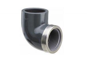 Gomito a 90 con rinforzo inox 5752-Plasson-Tubiplast