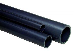 Tubo in PVC-U grigio, Serie S10 SDR21 pressione nominale-GF-Tubiplast
