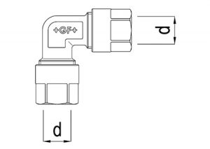 Gomito 90°-GF-Tubiplast