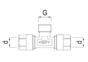 Tee maschio filettato-GF-Tubiplast