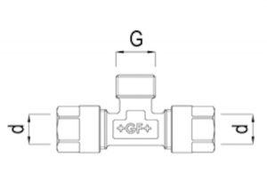Tee femmina filettato-GF-Tubiplast