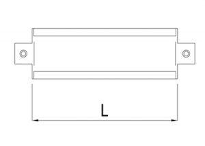 Placca per attacco a muro raccordi scorrevoli-GF-Tubiplast