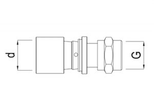 Diritto filettato femmina d16-32-GF-Tubiplast