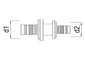 Intermedio ridotto d40-63-GF-Tubiplast