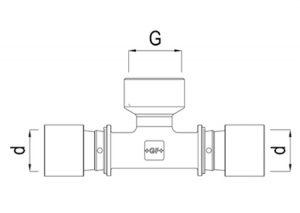 Tee femmina filettato d16-32-GF-Tubipast