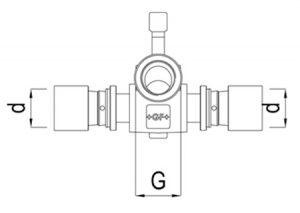 Raccordo scorrevole doppio-GF-Tubiplast