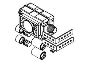 Valvola ad incasso con leva e cassetta ispezionabile-GF-Tubiplast