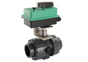 Valvola motorizzata Compact PRO 2 vie FF PVC-Comparato-Tubiplast