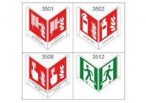 Cartello indicatore bifacciale-GF-Tubiplast