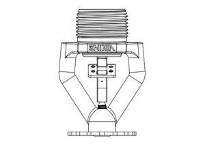 pendent sprinkler a risposta standard VK92 (K19.6)-Viking-Tubiplast