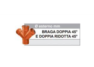 Braga doppia 45° e doppia ridotta 45°-Stabilplastic-Tubiplast