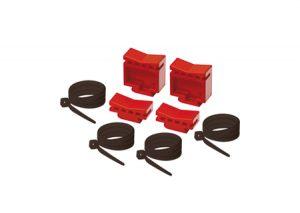 Kit di fissaggio collettori semplici alla cassetta in plastica Itap-Tubiplast