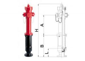 Idrante soprasuolo modello EUR in ghisa DN 50 - DN 65 tipo a secco con scarico automatico antigelo-GF-Tubiplast