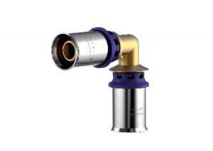 Gomito press-fitting metal Aquatechnik-Tubiplast