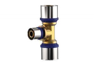 Tee ridotto press-fitting metal Aquatechnik-Tubiplast