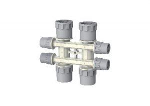 Collettore complanare modulare safety-pol Aquatechnik-Tubiplast