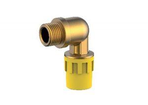 Gomito filettato femmina safety-gas Aquatechnik-Tubiplast