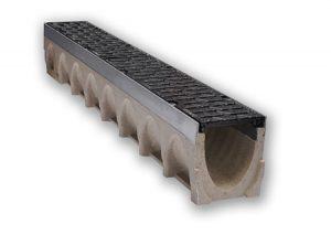 Canalina in calcestruzzo polimerico MULTIV+100 mm 1000 Ulma-Tubiplast